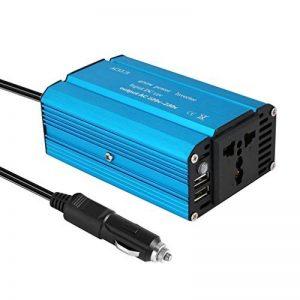 ACEHE 400W Convertisseur Transformateur DC 12V AC 220V-230V, Transformateur de Tension avec 2 Ports USB et Allume-Cigare pour iPhone / iPad / tablette / consoles, Corps en Aluminium Bleu de la marque ACEHE image 0 produit