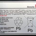 APC APCRBC106 - Batterie de remplacement pour APC Back-UPS 400VA de la marque APC image 1 produit