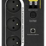 APC Back-UPS BX 700 - Onduleur 700VA, BX700U-FR - AVR - 3 Prises FR, USB, Logiciel d'arrêt de la marque APC BY SCHNEIDER ELECTRIC image 1 produit