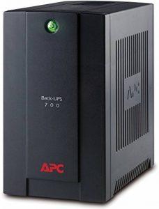 APC Back-UPS Interactivité de ligne 700VA Tour Noir alimentation d'énergie non interruptible - Alimentations d'énergie non interruptibles (700 VA, 390 W, 140 V, 300 V, 50/60, 273 J) de la marque APC image 0 produit