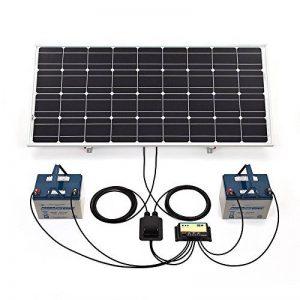Biard Panneau Solaire Photovoltaïque 100W - Câbles et Supports Triangulaires Ajustables Fournis - Régulateur de Charge Waterproof de la marque Biard image 0 produit