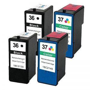 Caidi Lot de 4de remplacement pour Lexmark 3637XL/Lexmark36X L Lexmark37X L cartouche d'encre Compatible avec Lexmark X3650X4650X5650X5650es X6650X6675Z2420 de la marque Caidi image 0 produit