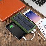 Chargeur solaire, Vivostar 20000mAh Portable Power Bank Batterie externe de secours Lot double sortie USB (2,1A) chargeur de panneau solaire avec lumière LED pour iPhone, Samsung Galaxy, iPad, caméra GoPro, GPS et plus de la marque VivoStar image 4 produit