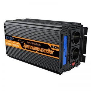 Convertisseur pur sinus 12v 220v onduleur 1000 2000w ecran LCD transformateur de tension de la marque Generic image 0 produit