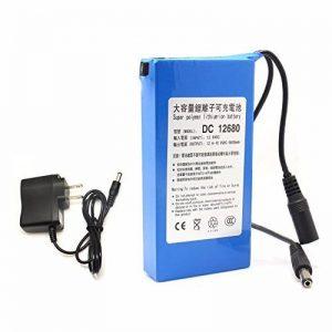 DC 12680 Portable 6800mAh pour DC 12V Super Commutateur rechargeable Batterie au lithium-ion Connecteur US / EU pour caméras Caméscopes de la marque Eleoption image 0 produit