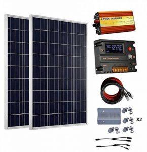ECO-WORTHY 200 watts (2pcs 100 watts) 12V panneau solaire + contrôleur de charge de la batterie 20A + 1000W hors réseau onduleur de la marque ECO-WORTHY image 0 produit