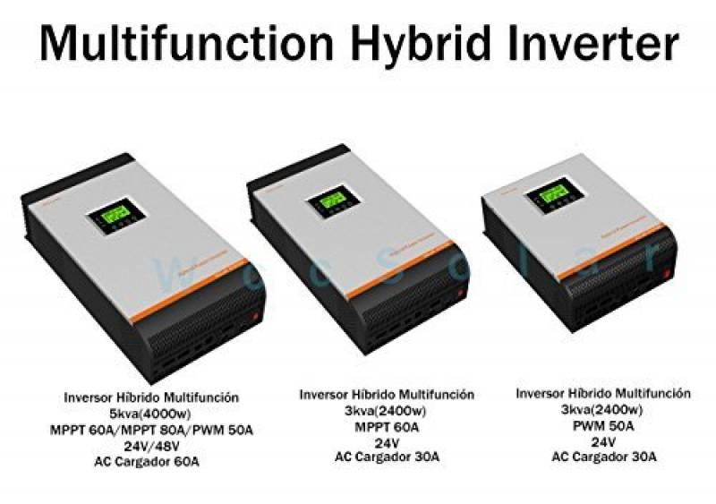 Xijia hybride Inverter 3000 VA PWM DC 24 V vers AC 220 ~ 230 V 50 Hz//60 Hz solaire convertisseur pour un usage domestique de voiture
