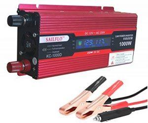 SAILFLO véhicule 1000W onduleur convertisseur DC 12 V vers AC 220 V Adaptateur USB Portable Transformateur de tension de voiture chargeurs de la marque SAILFLO image 0 produit
