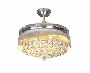 SDKKY Accueil crystal ventilateur Invisible, restaurant ventilateur de plafond, des fans de lampe led onduleur lustres de salon mode simple, 107cm de la marque SDKKY image 0 produit
