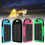 Tutoy 4000Mah Solar Led Portable Dual Usb Power Bank Chargeur De Batterie Externe Boîtier Boîte - Bleu de la marque Tutoy image 4 produit