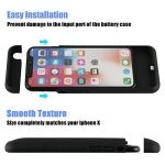 Xnuoyo Coque Batterie Ultra Fin Étui Housse avec Batterie Externe Rechargeable 4000mAh Li-polymère, Portable Chargeur Batterie de Secours Supplémentaire Battery Cover Case pour iPhone X-Noir de la marque Xnuoyo image 1 produit